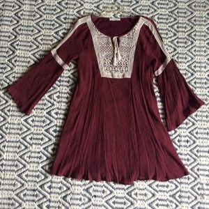 Entro Cranberry Boho tunic-dress L